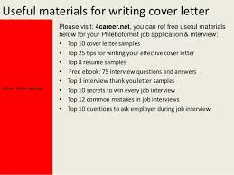 yours sincerely mark dixon cover letter sample 4 phlebotomist cover letter