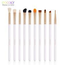 Docolor 4/<b>10PCS</b> Eye <b>Makeup Brushes</b> Set Eyebrow Eyeline ...