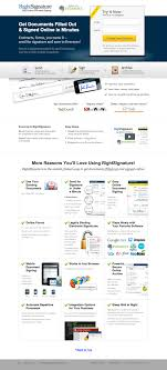 26 beautiful landing page designs a b testing tips rightsignature landing page design