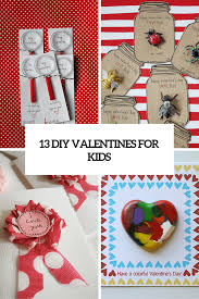 diy gift cards archives shelterness 13 creative diy valentine s day cards for kids
