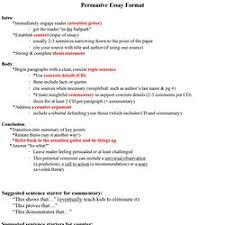 persuasive essay format  pearltrees
