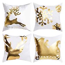 Christmas Bronzing Pillow Cover Merry Christmas ... - Amazon.com
