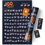 Купить интерактивный <b>скретч постер 1DEA.me</b> 100 bucketlist ...