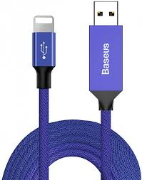 Кабель <b>Baseus Artistic striped</b> USB cable For iP 2A 5m Blue ...