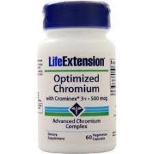 Life Extension <b>Optimized Chromium with Crominex</b> 3+ (500mcg) on ...