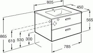Модуль с раковиной Victoria Nord <b>80 см</b>, <b>венге</b>, подвесной монтаж