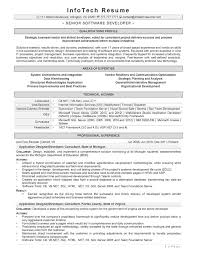 it resume samples   infotechresumesenior software developer  middot  senior software engineer