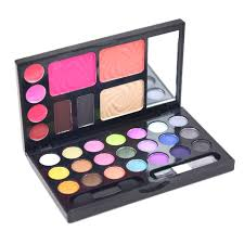 Dark Blue Magic Makeup Box ( Eyeshadow + Blush + Powder + ...