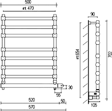 <b>Полотенцесушитель электрический Margaroli Sole</b> 564-8 хром ...