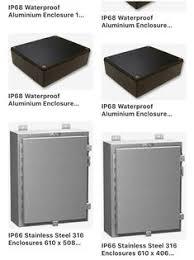 IP68 <b>Waterproof Aluminium</b> Enclosure, Flanged 55.9 x 120.8 x 171.8 ...