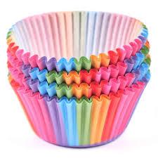 100pcs/lot <b>Multi color</b> paper Cake Liner Case Muffin Cupcake Mold ...