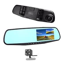 Car DVR Rear view Mirror Video Recroder <b>4.3 inch Car Camera</b> ...
