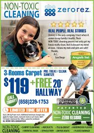 zerorez non toxic cleaning services ads from san diego union ads for zerorez in poway ca