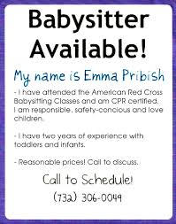 babysitting flyer personalized org babysitting ads ideas babysitting flyer ideas ftpjvnwu