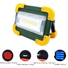 Waterproof IP65 USB rechargeable <b>led floodlight 30W portable</b> 4 x ...