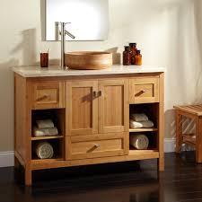 designed bamboo brass bathroom sink