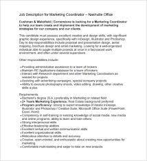 marketing coordinator job description templates – free sample    marketing coordinator job description for real estate pdf format free download