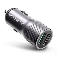 Blitzwolf® bw-sd2 30w <b>qc3</b>.<b>0</b> 2.4a dual usb ports <b>fast car charger</b> for ...