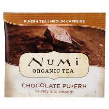 Numi <b>Organic Chocolate Pu</b>-<b>Erh Tea</b> Bags - 100/Case