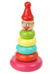 """Деревянная игрушка <b>Пирамидка</b> """"<b>Клоун</b> """" <b>Фабрика Фантазий</b> ..."""
