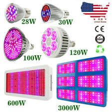 28/100/<b>120/300</b>/600/3000W LED Grow Light Full Spectrum Lamp for ...