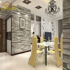 chinese style decor: chinese style dining room wallpaper modern d stone brick design background vinyl wall paper for kitchen livingroom wallcovering