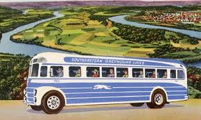 Image result for in line to catch greyhound bus