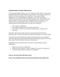 thesis statement argumentative essay cover letter argumentative essay thesis examples argumentative