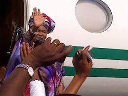 Image result for Nigeria presidential aircraft by wife