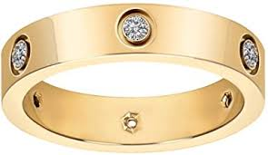 Fashion Classic 18K Gold Plated <b>Titanium Steel</b> Women <b>Ring</b> Best ...