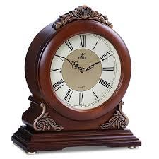 2019 <b>POWER Brand High End</b> Solid Wood <b>Desk</b> Clock Silent Quartz ...