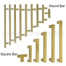 Brass <b>Square</b> /<b>T Bar</b> Drawer Pulls <b>Kitchen Cabinet</b> Handle knob ...
