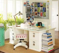 elegant freshing home office design idea with beautiful green plant beautiful bright office