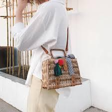 Handmade knitted Bag <b>Female</b> new <b>2019 tide</b> Fashion handbag ...