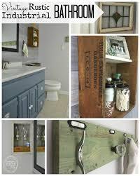 bathroom refresh: vintage rustic industrial bathroom on a budget