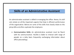 Administrative Assistant Resume 5. Skills of an Administrative Assistant ...