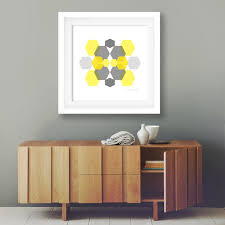 popular items for office wall decor on etsy minimalist art geometric grey and mustard modern home best office art