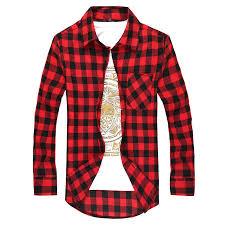 Green <b>Plaid Shirt</b> Men <b>Shirts 2019 New</b> Summer Fashion Chemise ...