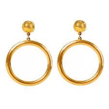 <b>Позолоченные</b> серьги-кольца <b>Ben</b>-<b>Amun</b> – Ana Chaus