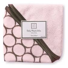 <b>Мочалка</b> детская <b>SWADDLEDESIGNS Washcloth</b> set Pink w/BR ...