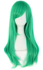 MapofBeauty Stylish <b>Long Straight</b> Cosplay Party Wig | Wigs, <b>Side</b> ...
