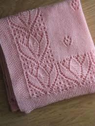 Resultado de imagen de tulip lace knitting pattern | Mantas tejidas ...