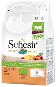 <b>Корм</b> для стерилизованных кошек <b>Schesir Bio</b> 400 г — купить по ...
