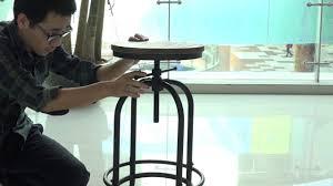 <b>iKayaa Industrial</b> Style Height Adjustable Swivel <b>Bar</b> Stool - YouTube