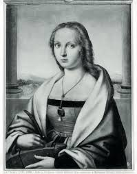 the many identities of raphael s lady a unicorn portrait of a lady a unicorn before restoration as saint catherine of
