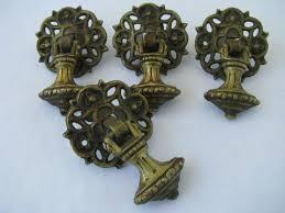 antique ornate teardrop tassel drawer pulls early 1900s vintage hardware lot antique hardware furniture pulls