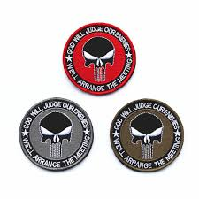 Swat <b>Punisher Skull Patches</b> Badge On Fabric Clothes Applique ...