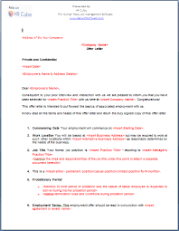 Job Offer Letter – Download Template Employee Job Offer Letter Template