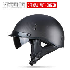 Motorcycle Helmets Classic Style Motorcycle <b>Bike</b> Rider Half Face ...