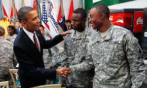 Image result for obama and troops